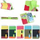 Rainbow Wallet Cover for iPhone 6 Plus 5.5 in 5 Colours