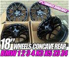 "4x STAGGERED BLACK 18"" BMW E46 CSL STYLE ALLOY WHEELS BRAND NEW IN BOX 5X120"