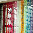 Heart Line String Door Curtain Tassel Window Curtain Divider Scarf 11 Colors M68