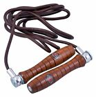 Maxx Leather Skipping Speed Rope Adjustable Weighted Fitness Workout Jumping MMA