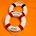 "12.5"" Blue / Red Lifebuoy Life Ring Float Nautical Home Wall Welcome Decoration"