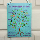 Family Tree Peraonalised Plaque Vintage Retro Shabby Chic Children Love Sign