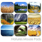 NATURE LAND FOREST WATERFALL EARTH VIEW CUSTOM MOUSE PAD MOUSEPAD  (LM-02)
