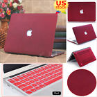 """2in1 Wine Red Quicksand Matte Hard Case Cover For Retina Pro 13"""" Air 11""""/13""""inch"""