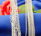 """5pcs/1pc 925 Silver Plated 1.4mm Women Men Rolo """"o"""" Chain Necklace 16-30 Inch"""
