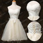 PRINCESS Vintage Short Wedding Party Evening Prom Gown Bridesmaid Cocktail Dress