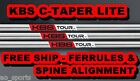 *NEW* KBS C TAPER LITE .355 SHAFTS- YOU PICK CONFIGURATION -- REGULAR REG R FLEX