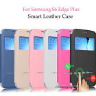 Flip Smart Window View Stand Leather Case For Samsung Galaxy S6 / S6 Edge Plus