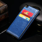 Luxury Ultra Slim Leather Wallet Card slots Back Case Cover For Huawei Ascend P8