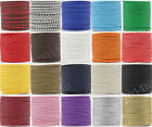 5/20/100Meter Artificia Leather Braid Rope Hemp Cord For Necklace Bracelet 4mm