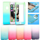 Luxury Gradient Color 360° Protect Case Cover With Tempered Film For iPhone 6 6+