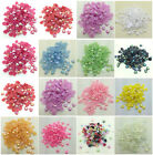 NEW 8mm 10mm 12mm DIY Heart-Shaped Pearl Bead FlatBack Scrapbook For Crafts