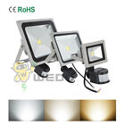 10W/30W/50W LED PIR Flood Light Ultra Bright IP65 Outdoor Garden Waterproof Lamp