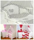 Baby's Comfort 17 PCS BABY BEDDING SET HEARTS ( 12 NEWEST DESIGNS )