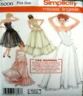 Simplicity Sewing Pattern 5006 Strapless Corset Bustier Petticoat Choose Size