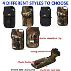 Commercial Grade Case With Metal Belt Clip Cover Holster Pouch For Large Phones