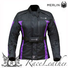 MERLIN PAIGE BLACK PURPLE LADIES WOMENS WATERPROOF MOTORBIKE MOTORCYCLE JACKET