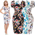 4-18 SIZE VINTAGE 50S BODYCON EVENING PINUP PARTY WIGGLE PENCIL DRESS