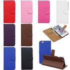 Genuine Leather Flip Wallet Card Bag Case Cover For Samsung iPhone 6/6S/6 Plus