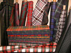 NEW 10 OZ LIGHTWEIGHT 100% WOOL TARTAN FABRIC -150CM WIDE & MANY TARTANS