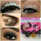 Glitter Eyes Shadow 4 Colours Set, loose glitter, Fix Gel gift bag Xmas Party