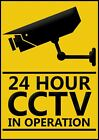 CCTV - 24 HOURS SURVEILLANCE IN OPERATION SIGNS & STICKER! NEW !