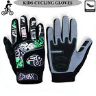 Kids Motocross Cycling Gloves Dirt Bike Full Finger Off Road BMX Gloves