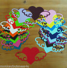 6 - Love Die Cuts - Large Heart w/Wings - Valentine - Wedding/Invitations/Cards