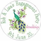 PERSONALISED ENGAGEMENT CIRCLE STICKERS (choose from MATT or GLOSSY) EPCS18