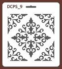 Scrapbook Decoupage Stencil Seamless damask 5 sizes available 0,35mm thick DCPS9