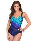Miraclesuit Deep End Sanibel Underwired Egg Blue Swimsuit 364763