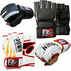 Boommax Rex Leather Training MMA Grappling Gloves Fight Sparring Boxing Punch