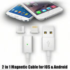 2 in 1 Magnetic Micro Lightning Connector USB Charging Cable For iPhone Android