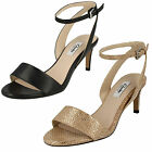 Ladies Clarks Amali Jewel Black Or Champagne Metallic Leather Smart Sandals