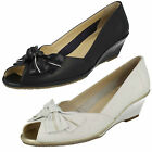 Ladies Van Dal Florida II Leather Peep Toe Wedge Smart Shoes D Fitting