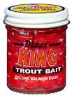 Image of Atlas Mike's King Deluxe Salmon Eggs Trout Bait Yellow Glitter 1.6 oz Jar NEW