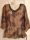 Women's Beaded Sexy Unique Spectrum top blouse fancy chic all sizes new $68