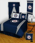 Winnipeg Jets Comforter Sham & Sheet Set Twin Full Queen King Size