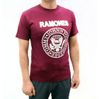 Ramones Punk Rock Band Embroidered Graphic T-Shirts Burgundy