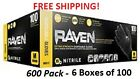 SAS Raven CASE of 6 BOXES of Black Nitrile Gloves.(600-Pack) All Sizes Available