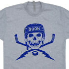 Hockey T SHIRT Skull Goon Goalie Mask Ice Puck Helmet fan Sticks Jersey Tee