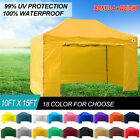 10 X 15 Ez Pop up Canopy Tent Commercial Instant Gazebos with 6 Removable Sides