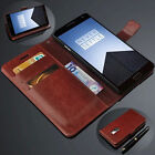 Wallet For OnePlus One/Two/X Luxury Men's Leather Card Stand Magnetic Case Cover