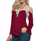 Hot Sales Women Sexy Off Shoulder Blouse Long Sleeve Tops Plus Size