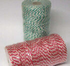 1kg CONES OF 2mm EVERLASTO CANDY STRIPE POLYPROPYLENE TWINE - VARIOUS Colours