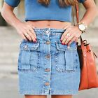ZARA NEW COLLECTION 2015. BLUE DENIM MINI SKIRT WITH POCKETS. BLOGGERS.
