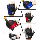 Mens Sturdy Shakeproof Cycling Gloves Half Finger Motorcycle Riding Mittens XL/L