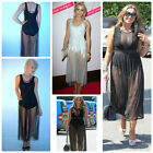 Celebrity Style Glamorous Mesh Overlay Jumpsuit Unitard Size 10UK/6USA/38EU