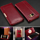Men's Leather Luxury Wallet Case Cover Satnd Card For Samsung Galaxy S7 / Edge