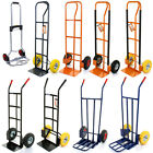 SACK TRUCK INDUSTRIAL WAREHOUSE TROLLEY SOLID WHEELS/ PNEUMATIC TYRE 4 STYLES
